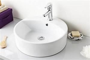 Bauhaus Gäste Wc Waschbecken : waschbecken aufsatzwaschbecken 45cm rund aufsatzwaschbecken badshop baushop bauhaus sanit r ~ Markanthonyermac.com Haus und Dekorationen