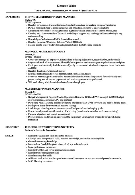 Automotive Finance Manager Resume Samples Job And Template