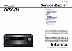 Integra Drx R1 Service Manual  U0026 Schematics