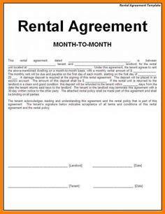 rental agreements  print  standard lease