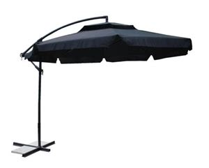 black 3m outdoor patio cantilever umbrella tilts 360