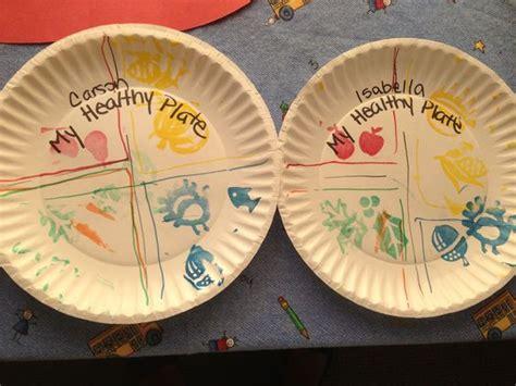 Preschool Craft- My Healthy Plate/ Choose Your Plate Food