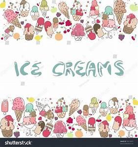 Ice Cream Border Stock Vector 76210819 - Shutterstock