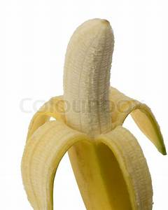 Half peeled banana | Stock Photo | Colourbox