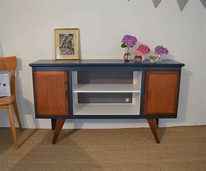 Meuble Tv Vintage : meuble tv vintage sacha relookin de meubles vintage par lilibroc ~ Teatrodelosmanantiales.com Idées de Décoration