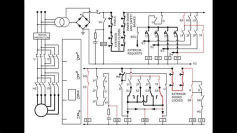 wiring diagram elevator mitsubishi elevator circuit diagram youtube