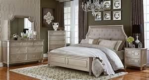 Silver, Bedroom, Furniture, Sets