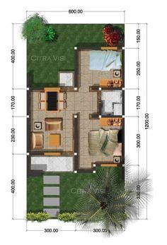 sketsa rumah type   lantai model minimalis tempat