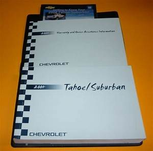 2004 Chevrolet Tahoe Suburban Owners Manual Set Guide 04