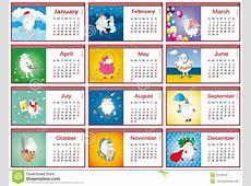 Calendarios Para Cada Mes En 2015 Con Las Ovejas Activas