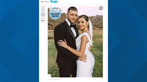 tim tebow demi leigh nel peters tie  knot  south