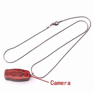 Mini Pendants Necklace With Pinhole Camera Red - Tmart