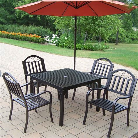 oakland living rochester 5 outdoor dining set with