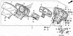 Honda Motorcycle 2010 Oem Parts Diagram For Speedometer