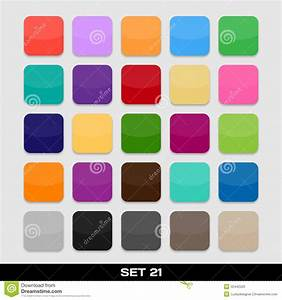 Set Of Colorful App Icon Templates, Frames, Backgrounds ...