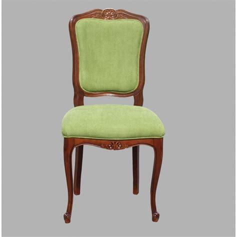 chaise en tissu chaise régence n 4 en merisier et tissu meubles de normandie