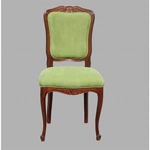 Chaise En Tissu : chaise r gence n 4 en merisier et tissu meubles de normandie ~ Teatrodelosmanantiales.com Idées de Décoration