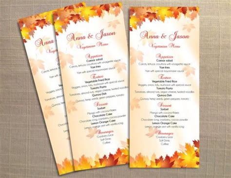 diy printable wedding menu template  weddbook