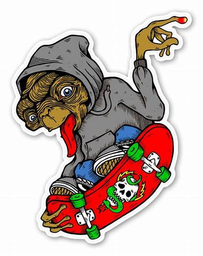Stickers Skate Skater Sticker Transparent Pegatinas Skateboarding
