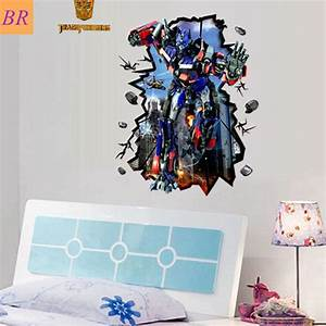 free shipping return of convoy movie 3d wall decals cool With cool transformer wall decals for boys room