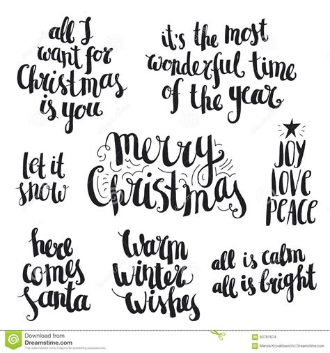vector set  ink hand drawn christmas  winter stock