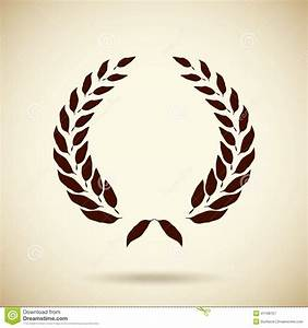 Certificate Of Accomplishment Vector Circular Laurel Wreath Stock Vector Illustration