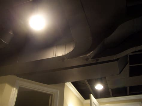black ceiling paint cool home creations finishing basement black ceiling