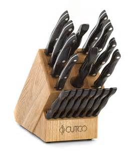 cutco kitchen knives homemaker 8 set with block w chef