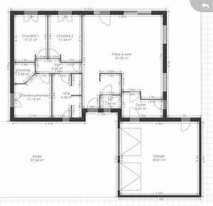 salon cuisine ouverte 50m2 plan salon cuisine sejour With forum plan de maison 2 piscine ronde 45 m