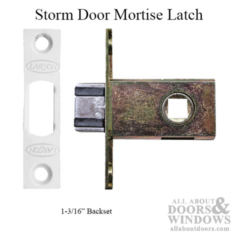 larson storm door mortise latch   backset white