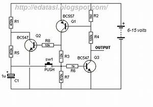 electronic circuit componnent data lesson and etc With push button switch to latching page 2