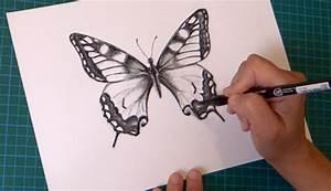 Comment Faire Une Rose En Papier Facilement : dessin papillon facil apprendre a dessiner artettuto ~ Nature-et-papiers.com Idées de Décoration