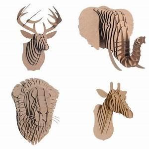 Trophée Animaux Origami : trophee buste en carton animaux atelier chez soi j 39 aime pinterest chez soi buste et carton ~ Teatrodelosmanantiales.com Idées de Décoration