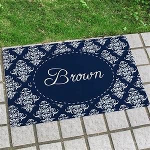 Fußmatte Mit Namen : blau vintage personalisierte fu matte mit namen ~ Frokenaadalensverden.com Haus und Dekorationen