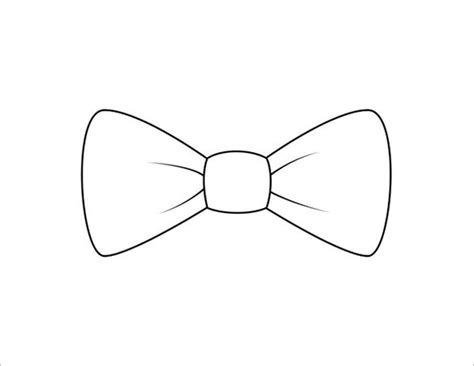 printable bow tie templates  word  format