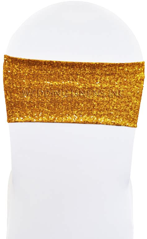 sequin chair bands lycra chair bands sequin chair sashes
