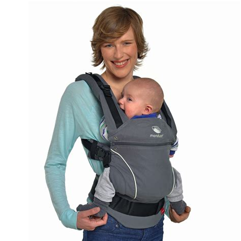 Manduca Pure Cotton Baby Carrier Dark Grey