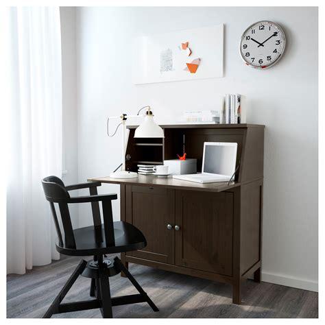bureau secr騁aire ikea hemnes bureau black brown 89x108 cm ikea