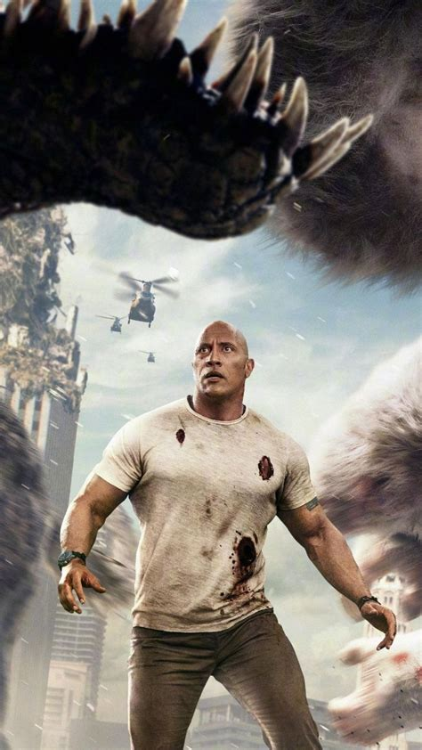 rampage gorilla movie movies wolf films chinese dwayne johnson poster giant monster rock horror woman cool monsters batman wonder wallpapersmug