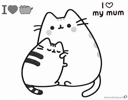 Pusheen Coloring Pages Mum Printable Mom Cat