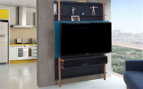 sala sofa preto e painel painel de tv para sala preto azul rack de parede