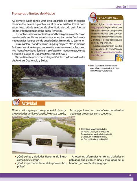 Libro completo de geografía cuarto grado en digital, lecciones, exámenes, tareas. Geografía Cuarto grado 2017-2018 - Página 13 - Libros de ...