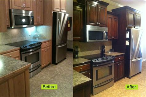 refinishing oak kitchen cabinets staining oak cabinets an espresso color diy tutorial 4673
