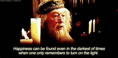 Harry Potter Happiness Dumbledore Giphy Gifs Quotes