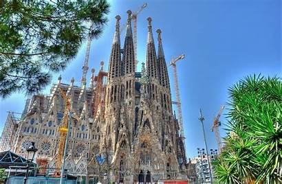 Gaudi Cathedral Antonio Familia Barcelona Sagrada Spain