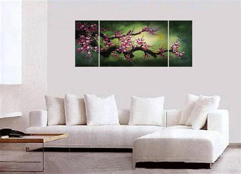 Feng Shui Wall Decor feng shui painting wall art decor chinese cherry blossom