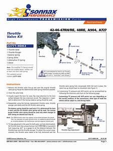 Throttle Valve Kit  42 Re  48re  A904  A727