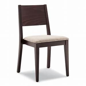 Sedia moderna in legno imbottita con tessuto o ecopelle Mod 162 ArredaSì
