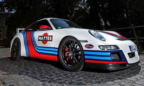 germany  mad  car wraps martini style racing livery