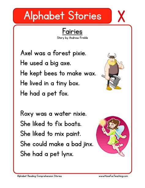 reading comprehension worksheet fairies